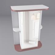 Шкаф-зеркало в ванную модель-  В (550, 600) 1д Зеркало 2 полки R